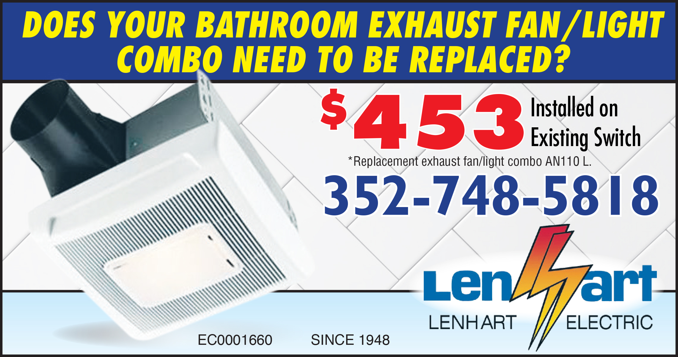 Lenhart Electric Bathroom exhaust