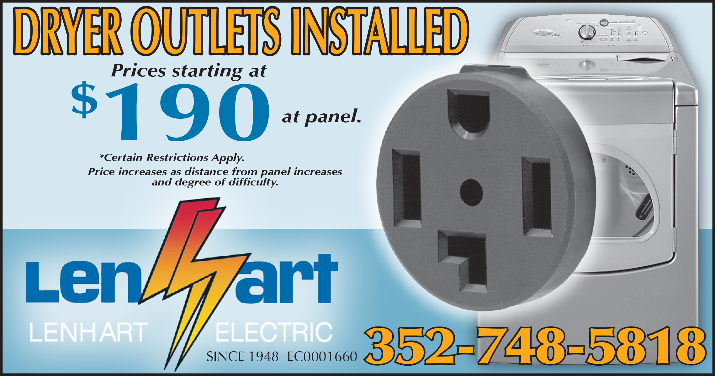 Outlets | Install | Replace | Lenhart | The Villages | Leesburg | Ocala
